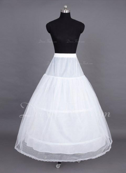 Tulle Netting Floor-length 2 Tiers Petticoat