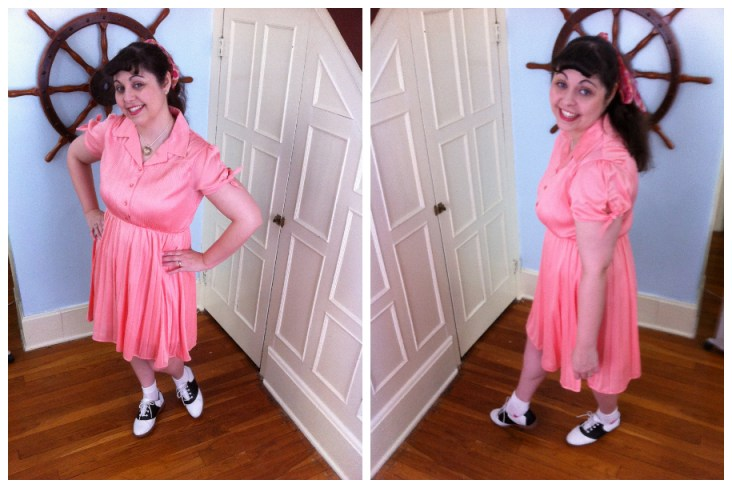 "Me in my ""Give a Little Glisten Dress"""