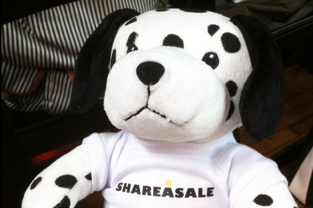 Share A Sale was giving out this cute little dog