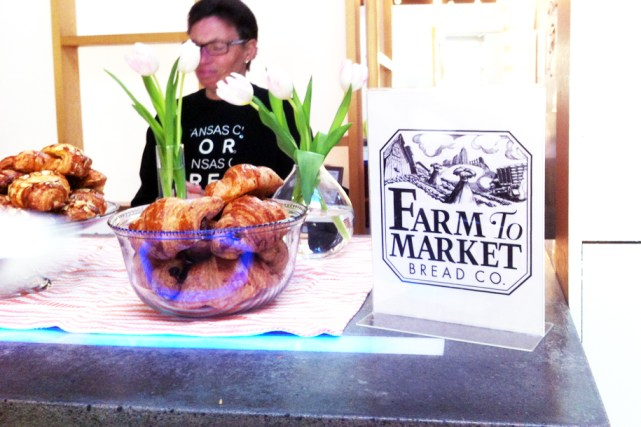 Farm to Market complimentary chocolate croissant were delicious!