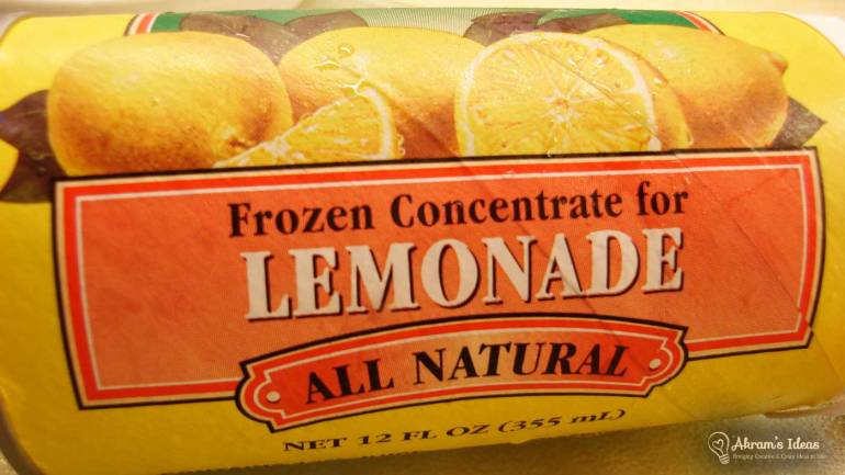 Concentrate Frozen Lemonade