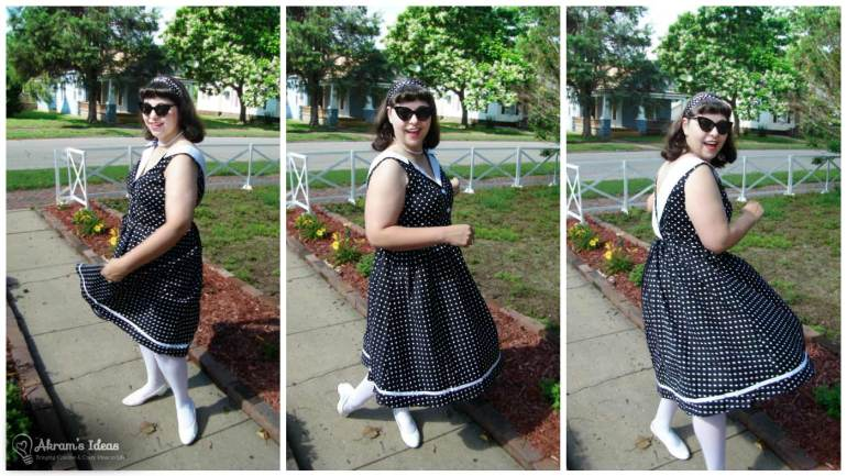 Twirling the skirt of my I Love you Brunches Dress