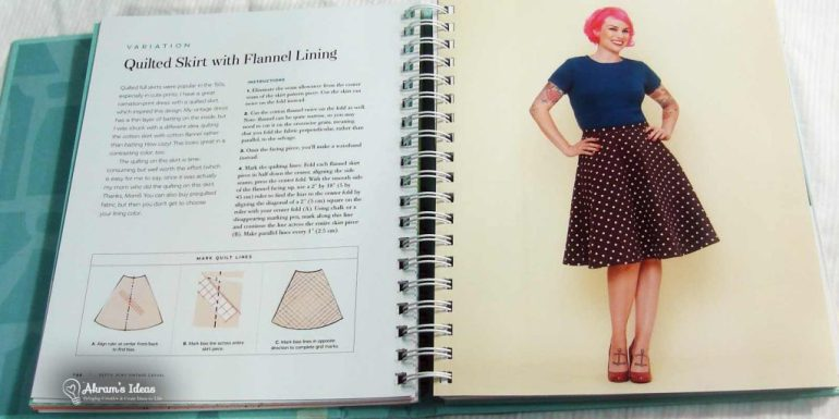 The quilted skirt in Gertie's Sews Vintage Casual