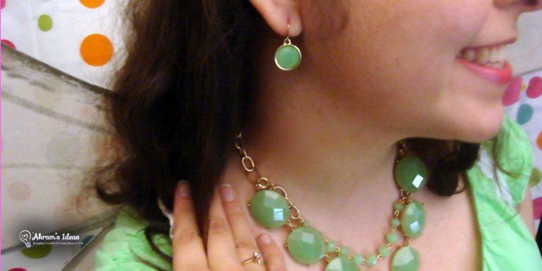 Mint green jewelry accessories