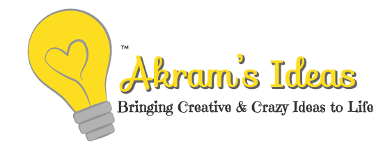 The new Akram's Ideas Logo