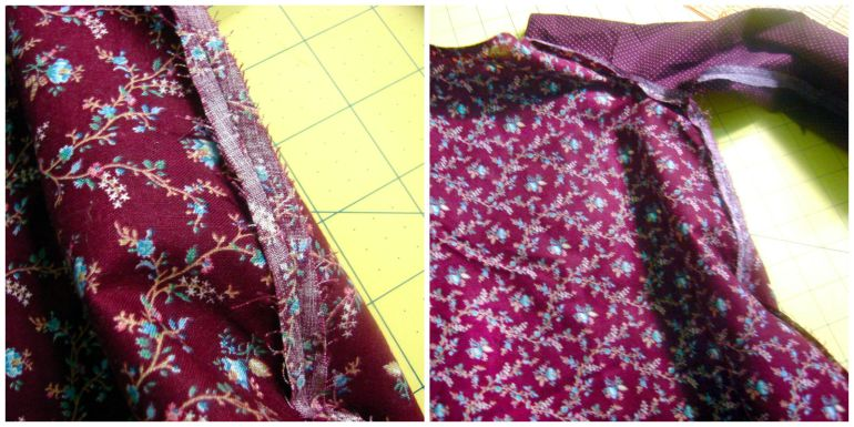 Akram's Ideas: Peasant Dress French Seams Prep