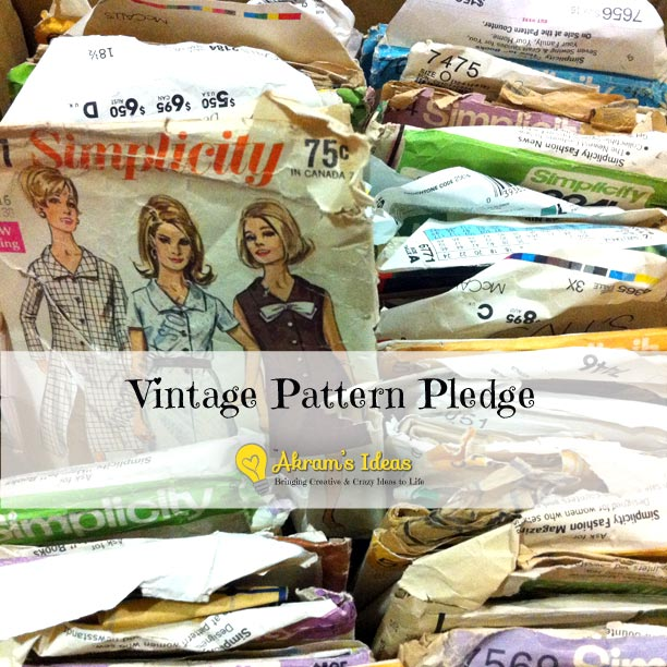 Akram's Ideas : Vintage Pattern Pledge