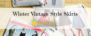 Akram's Ideas: Winter Vintage Style Skirts