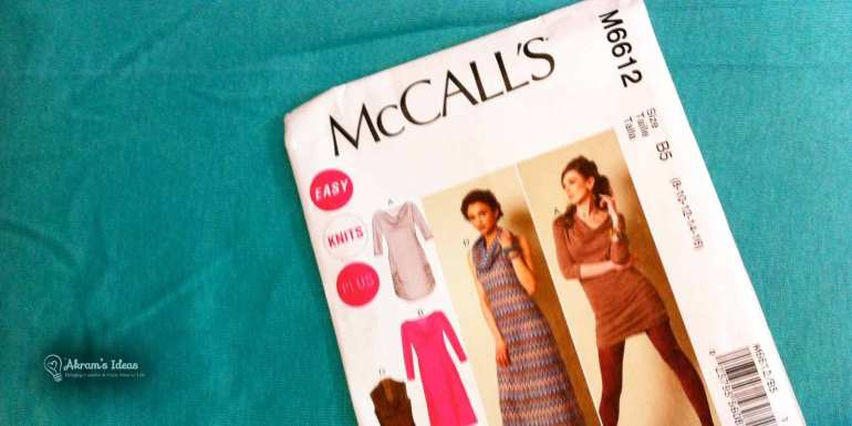McCall's 6612 Cowl Neck Knit Dress