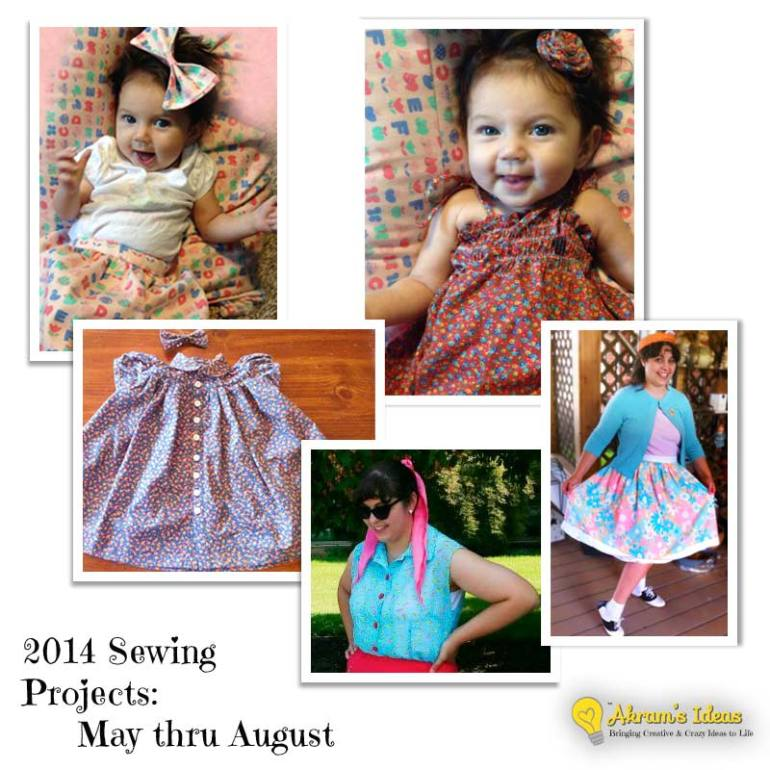 2014 Sewing Projects : May thru Aug