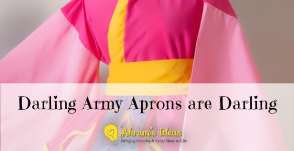 Darling Army Aprons are Darling