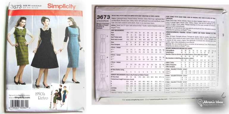 1950's re-release Simplicity 3673