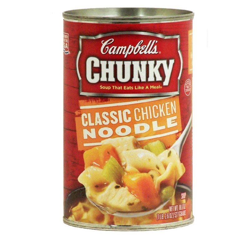 Campbell's chunky chicken noodle soup