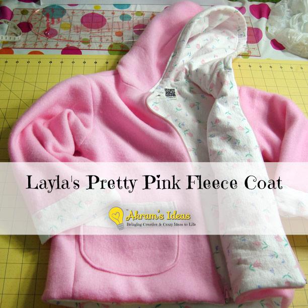 Layla's Pretty Pink Fleece Coat