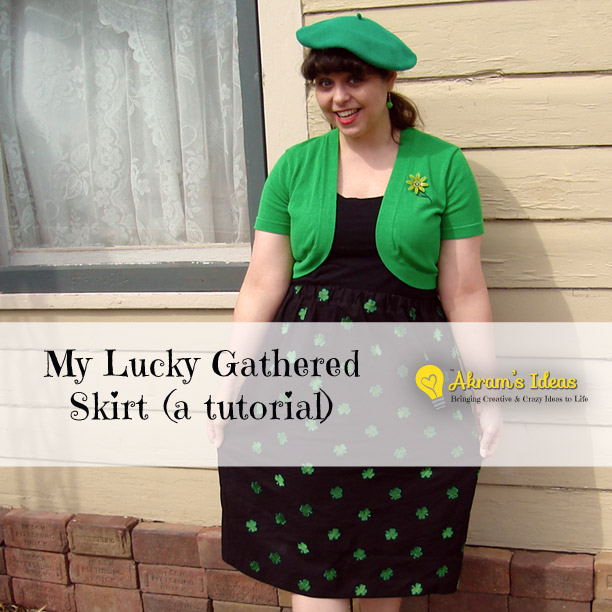 My Lucky Gathered Skirt (a tutorial)