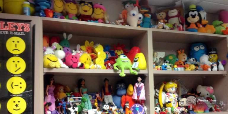 My office full of toys