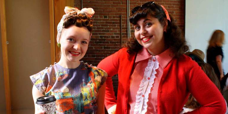 Emileigh and Me rocking the vintage look. Photo by Fatima Alliyani.