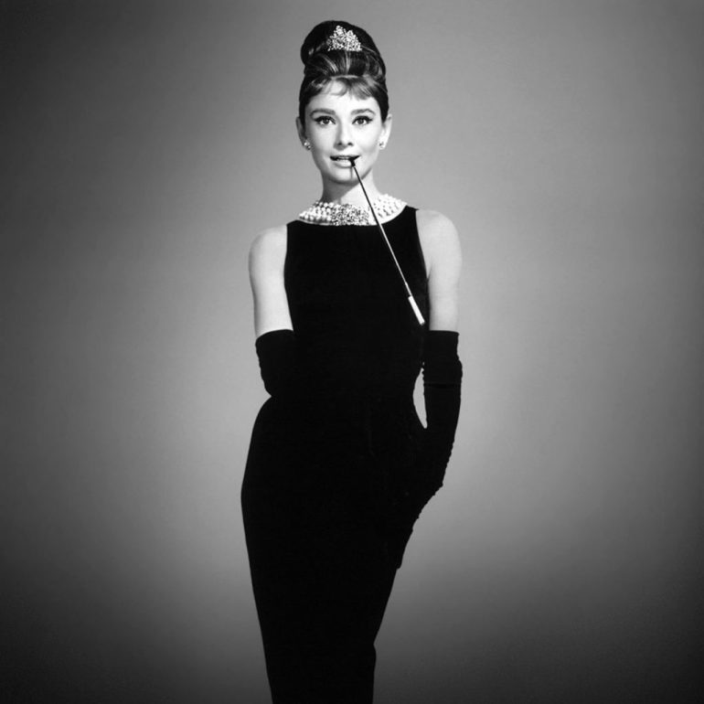 Audrey Hepburn and the famous black dress