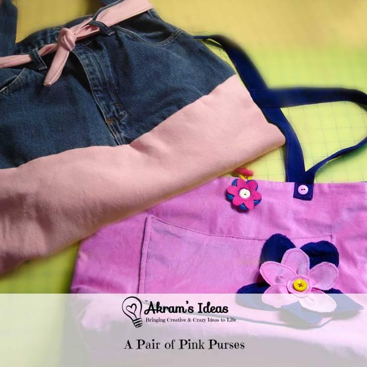 Akram's Ideas: A Pair of Pink Purses