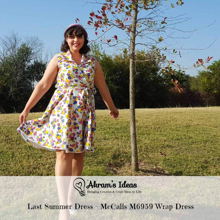 Akram's Ideas : Last Summer Dress - McCalls M6959 Wrap Dress