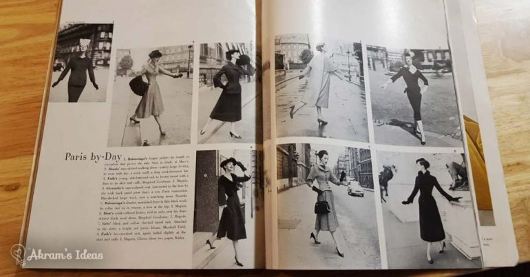 Harper's Bazaar October 1955 - Paris Fashion