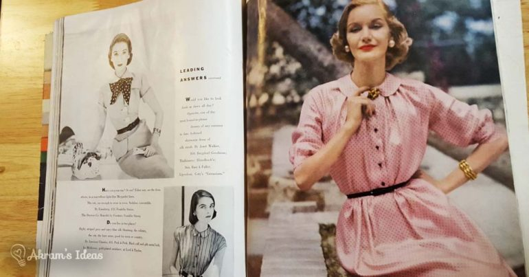 Vogue June 1951 - Day Dresses