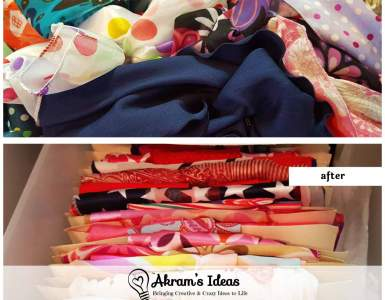Akram's Ideas: How to Organize Hair Scarves