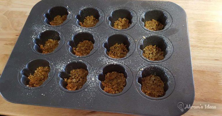 Mini pumpkin springform pan with graham cracker crust