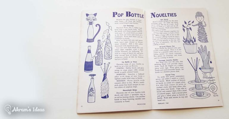Bottle crafts, now this one I could see using.
