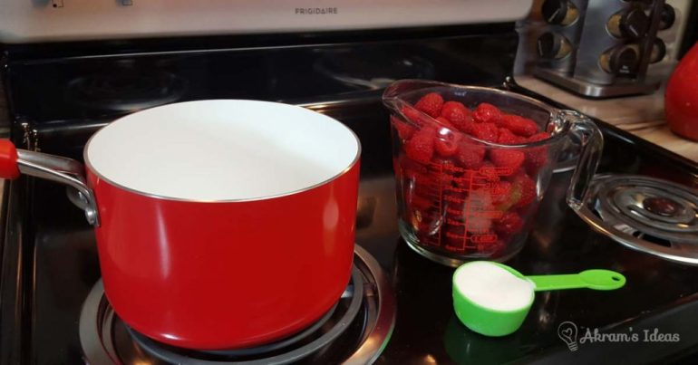 Akram's Ideas: Fresh Raspberry Puree - ingredients