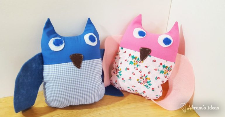 Blueberry and Tulip Owl
