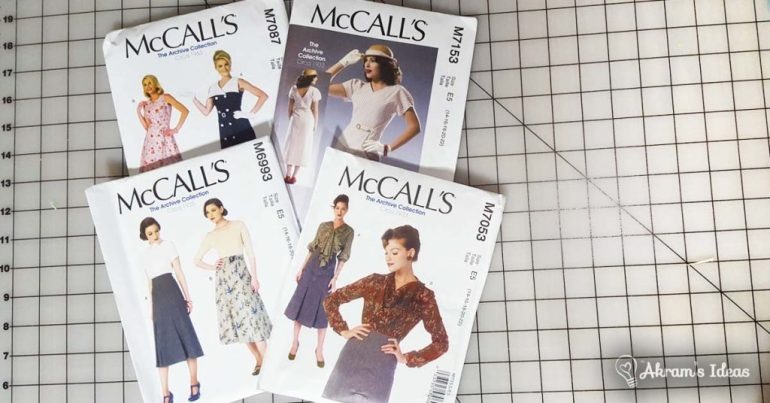 Akram's Ideas: McCalls Vintage Reproduction Patterns