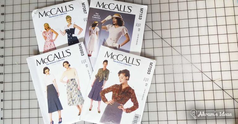 Akram's Ideas: McCalls Vintage Reproduction Patterns