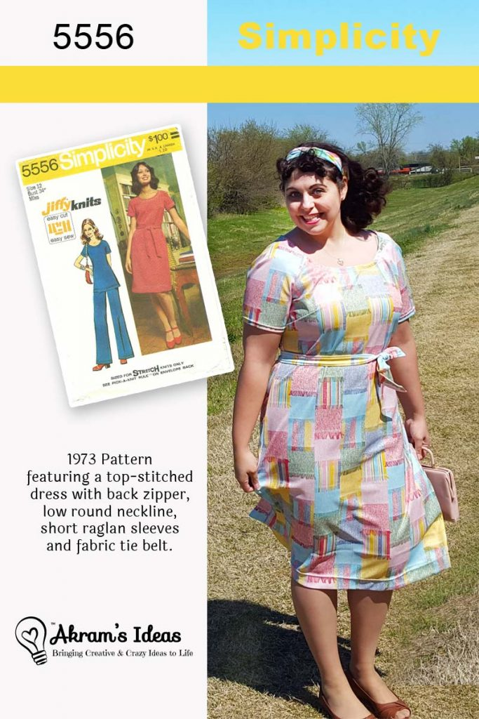 Akram's Ideas: #VintagePledge Simplicity 5556 Jersey Dress