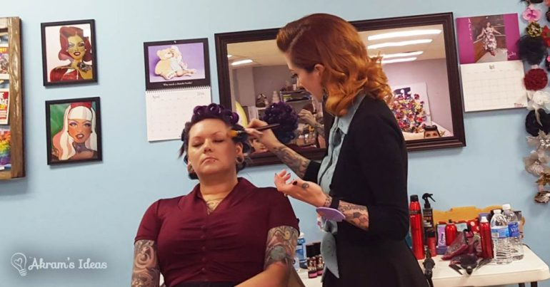 Akram's Ideas: Cherry Dollface does Makeup