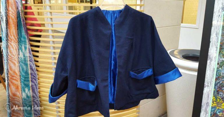 Akram's Ideas: 1950s Blue Wool Swing Coat