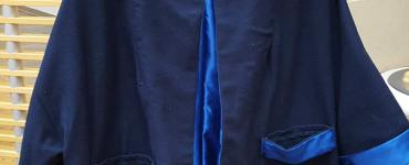 A quick review of the OU staff and Faculty Art Show, which I participating by entering my blue wool Swing Coat.