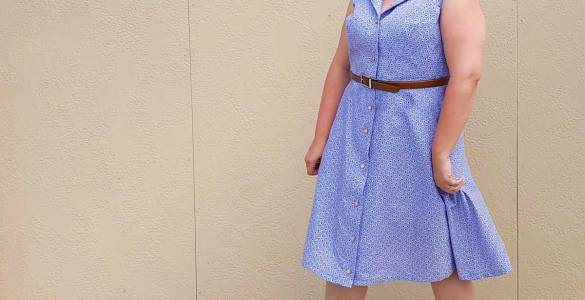 A review of McCalls 4769 shirtdress pattern for the McCalls Shirtdress Sew-Along #shirtdresssewalong.