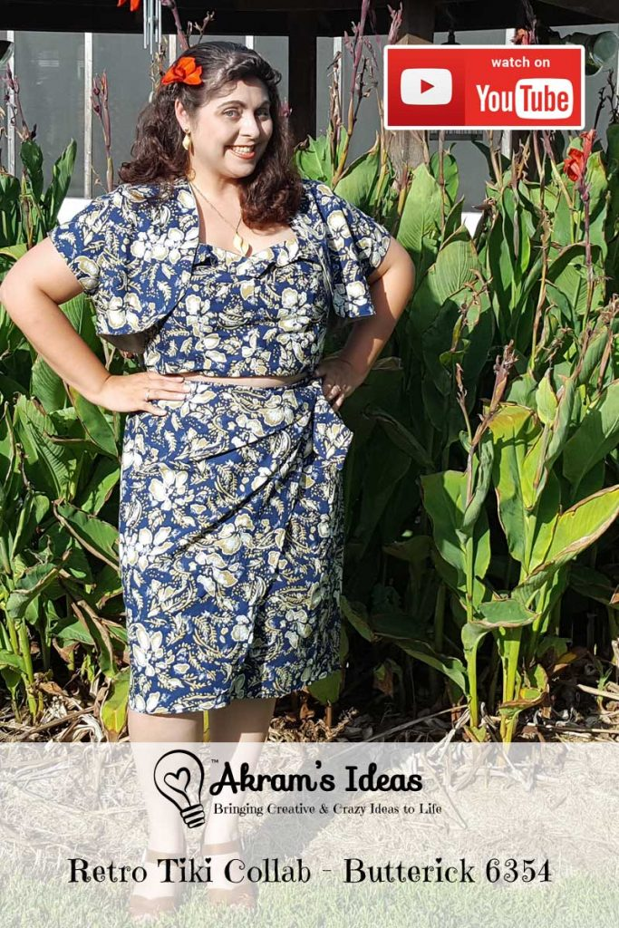 Review of Butterick 6354 Tiki Play Suit for the #RetroTikiCollab featuring projects by Vintage on Tap, The Crafty Pinup and Gussets and Godets.