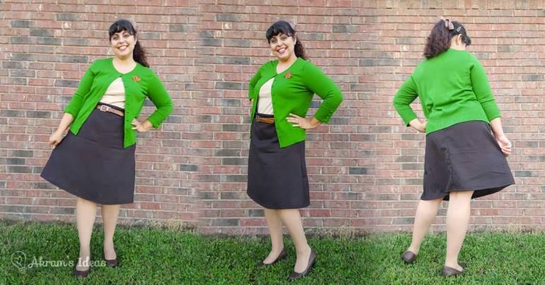 Akram's Ideas: Delphine Skirt in brown