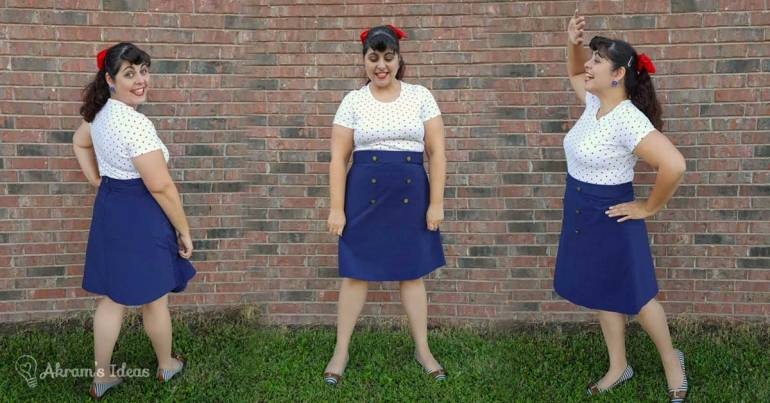 Akram's Ideas: Delphine Skirt in Navy