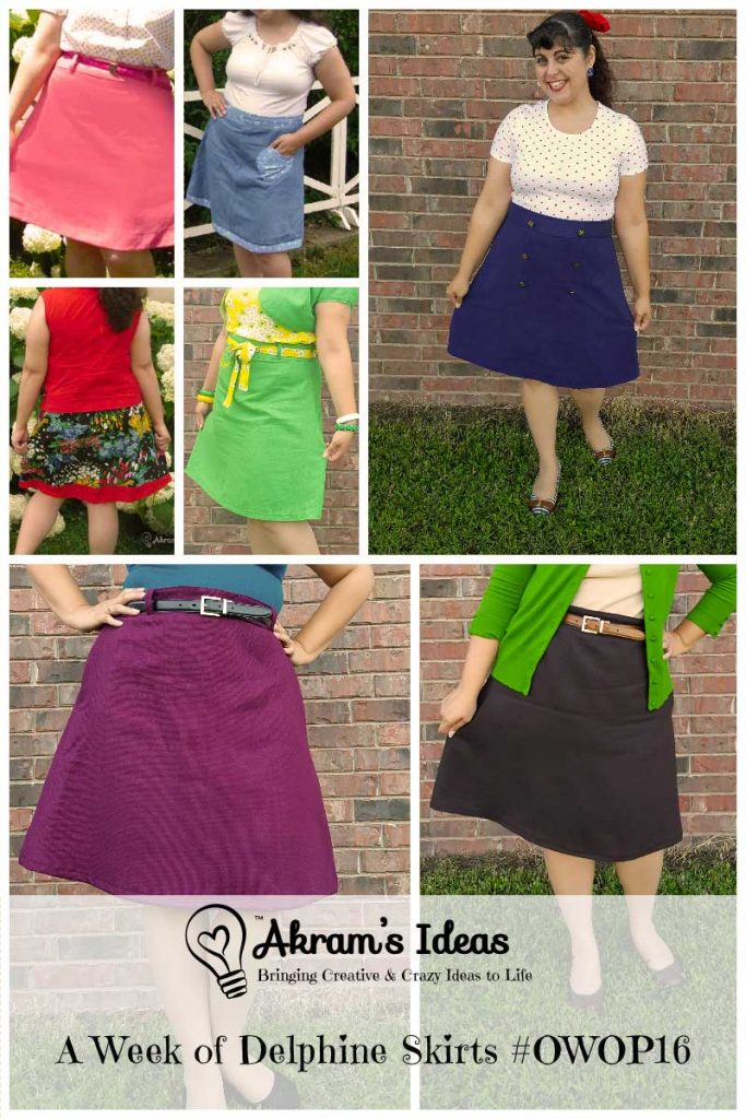 Taking part in #OWOP16 I choose the Delphine Skirt pattern from the book Love at First Stitch by Tilly Walnes.