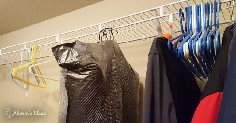 Akram's Ideas: Use trash bags to pack clothes