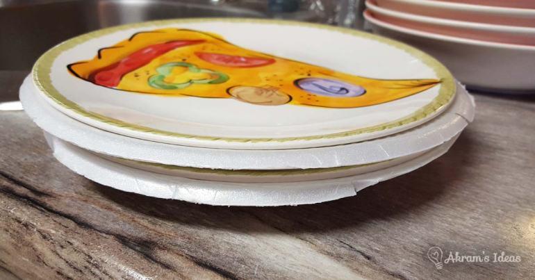 Akram's Ideas: Use styrofoam plates to cushion dishes