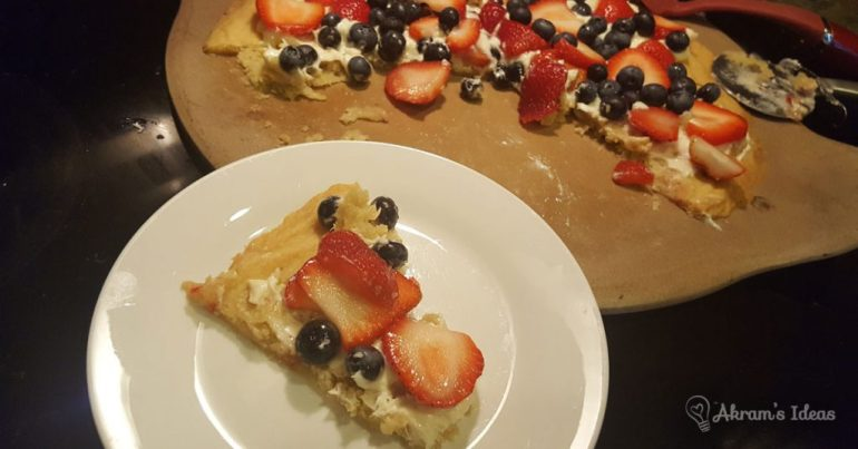 Akram's Ideas : Summer Berry Pizza