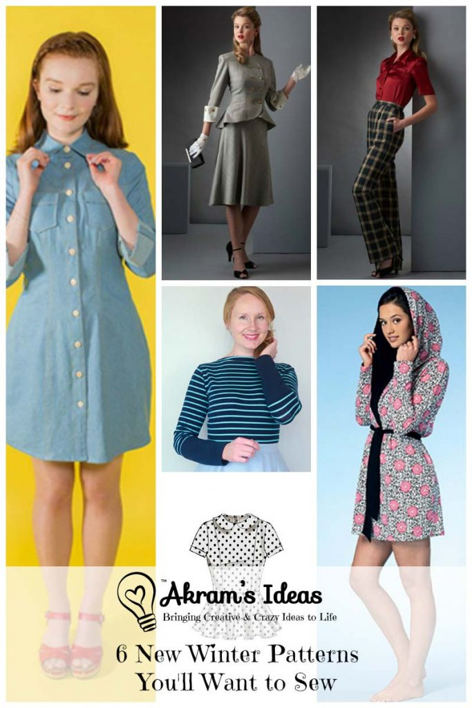 Akram's Ideas: 6 New Winter Patterns You'll want to sew