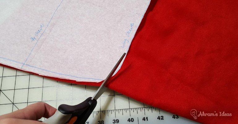 The Little Red Dress project - red fleece via @akramsideas