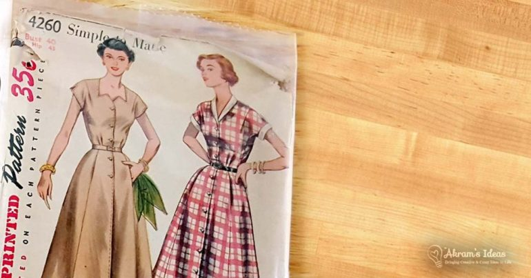 Akram's Ideas : vintage Simplicity 4260 shirt dress