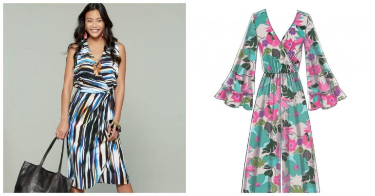 McCall's 7567 warp dress and 7577 jumpsuit