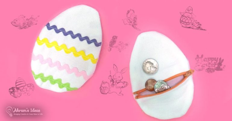 Exclusive Free Easter Egg Coin Purse Pattern from Akram's Ideas